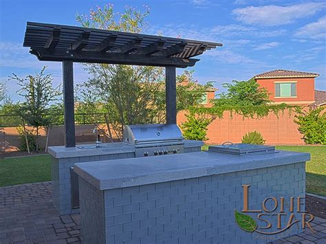 Kitchen Island Grill landscape entertainment features image gallery