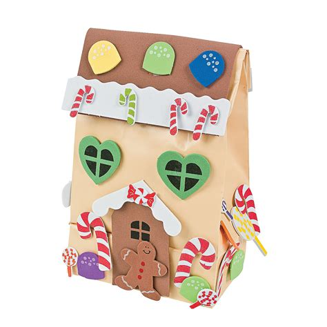 gingerbread house craft for paper gingerbread house gift bag craft kit