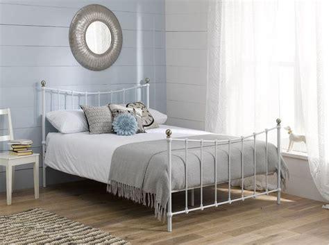 white iron bed frames best 25 white bed frames ideas on white
