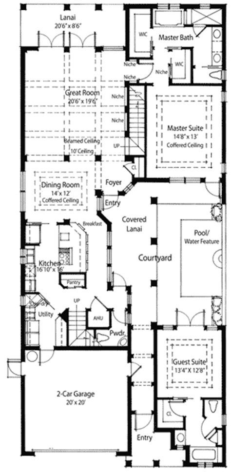 house plans with courtyard plan w33031zr energy saving courtyard house plan e architectural design