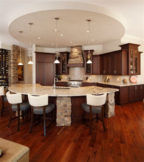 curved island kitchen designs 18 curved kitchen island designs ideas design trends