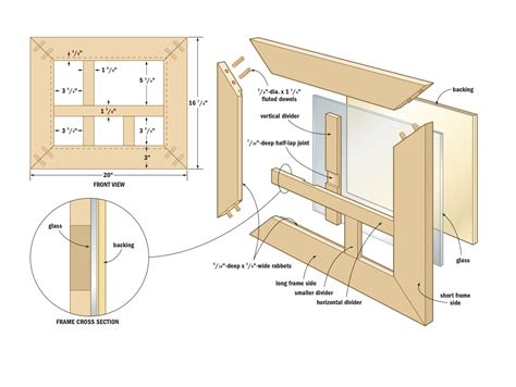woodworking picture frame plans build a photo frame collage canadian home workshop