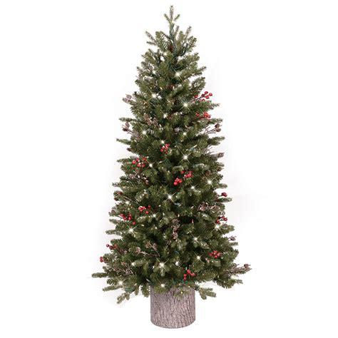 ge artificial tree shop ge 4 5 ft pre lit frasier fir slim flocked artificial