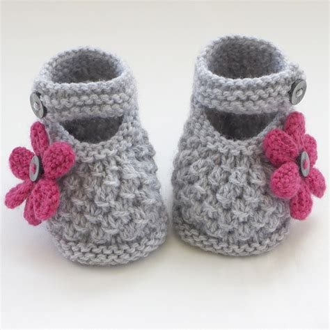 knitted booties knitted baby shoes booties folksy