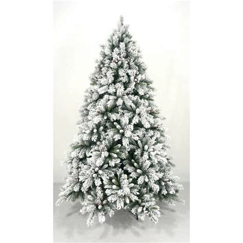 2 4m pvc tree with snow frosted tree