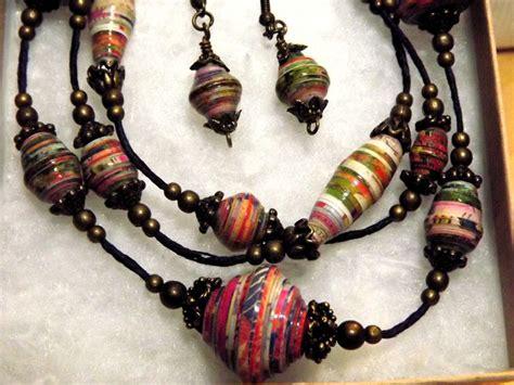 paper bead jewelry ideas pin by johanna hibbs on paper bead jewelry designs
