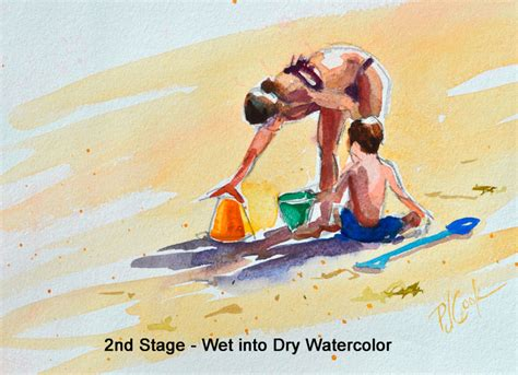paint quickly how to paint figures watercolors beaches and brushes