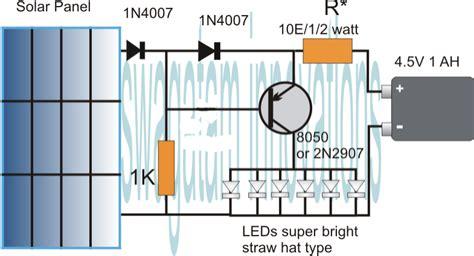 lights circuit simplest automatic led solar light circuit solar garden