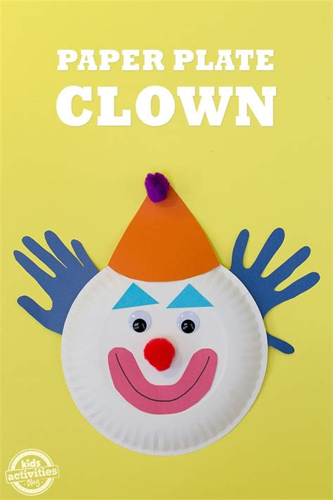 paper plate clown craft 17 best images about crafts on 5x7 envelopes