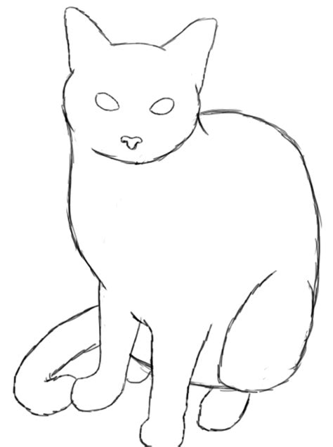 cat easy how to draw a cat draw central