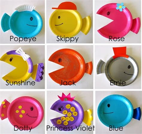paper plate fish craft paper plate fish made everyday