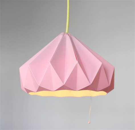 how to make origami lshade paper origami lshade chestnut pink