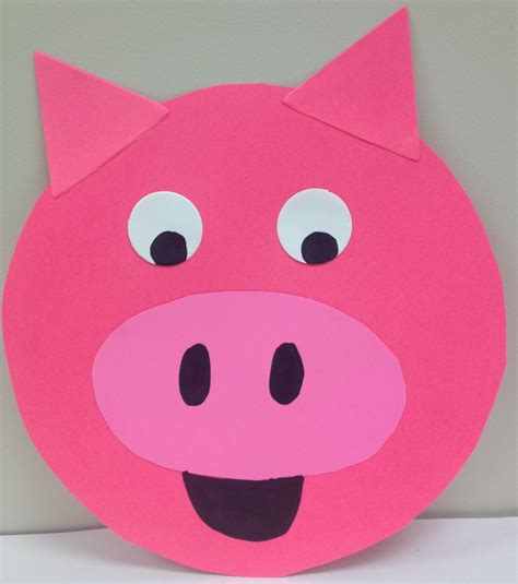 pig craft for pig storytime narrating tales of preschool storytime