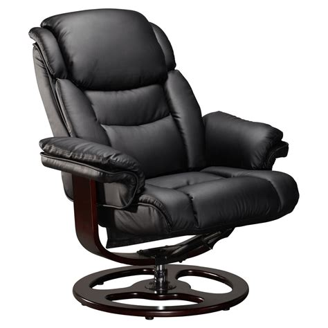 real leather recliner swivel chairs vienna real leather black swivel recliner chair w foot