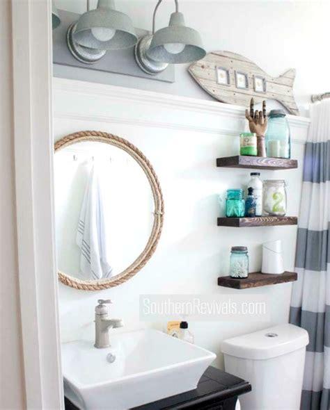 small bathroom ideas diy small nautical bathroom makeover with diy ideas coastal decor ideas and interior design