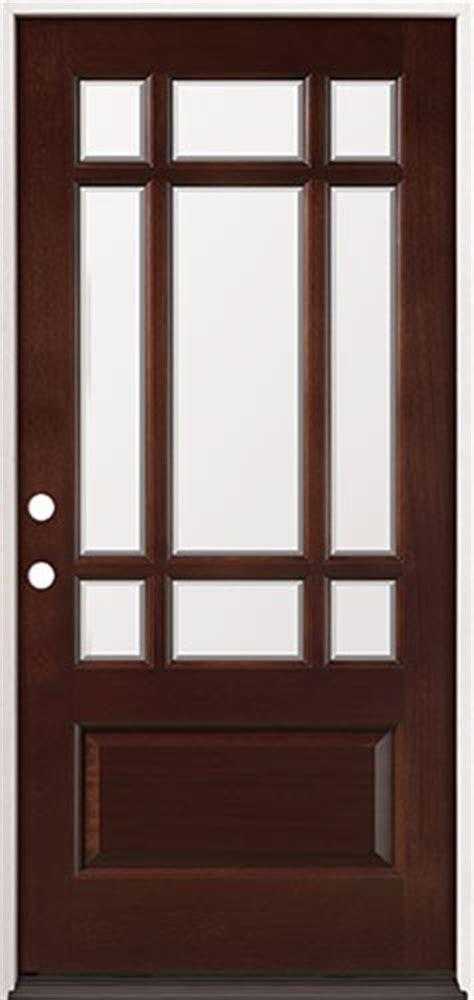 9 light exterior door discount 9 lite craftsman mahogany prehung wood door unit 32