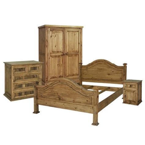 mexican bedroom furniture king roma mexican rustic pine headboard bed mattress sale