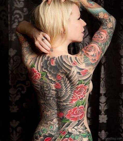 61 lovely rose tattoos for back