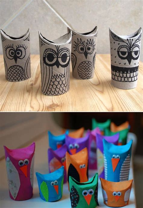 owl craft toilet paper roll toilet paper roll owls c ideas for crafts