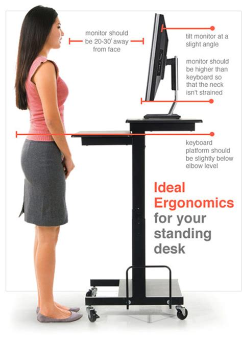 standing desk height ergonomics standing desk stand up desk adjustable height desk