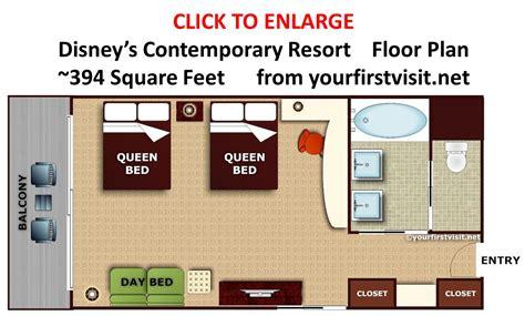contemporary resort floor plan review disney s contemporary resort continued