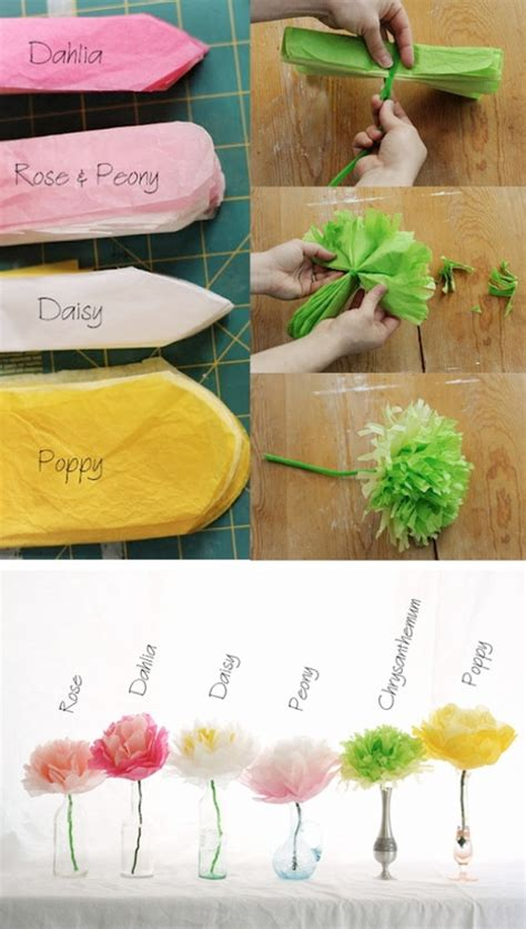 diy paper flowers craft diy wedding crafts tissue paper flower tutorial diy