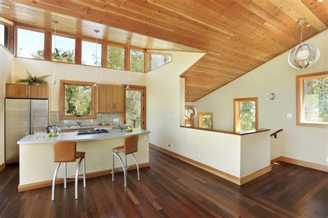 window on ceiling wood trim on ceiling kitchen contemporary with windows by