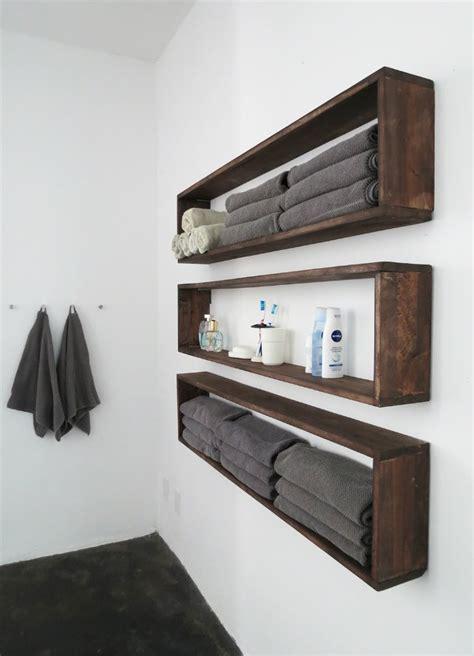 in wall bathroom storage diy wall shelves in the bathroom tutorial bob vila