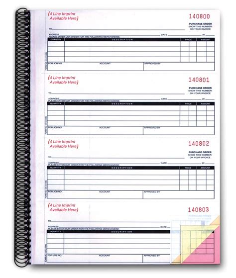 order picture books purchase order books form nc 124 3