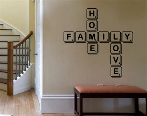 scrabble wall tiles wall decal family home scrabble tiles by