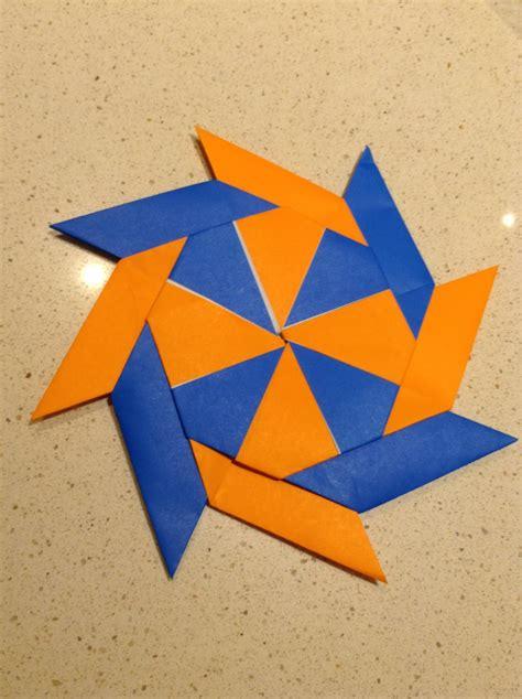 origami frisbee origami shuriken by blub on deviantart