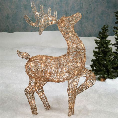 lighted reindeer outdoor top 5 yard decorations for outdoortheme