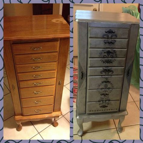 chalk paint jewelry armoire jewelry chest upcycle using chalk paint and valspar
