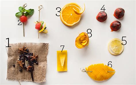 eight new cocktail garnish ideas from top bartenders