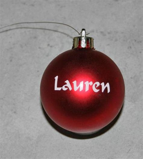 names on baubles other indoor personalized baubles one