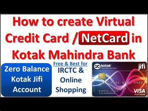 how to make bank card how to create free credit card netcard in kotak