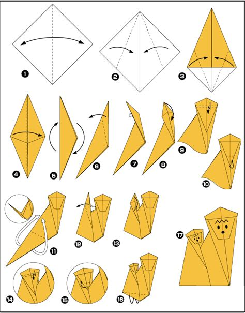 origami monkeys origami animals monkey comot