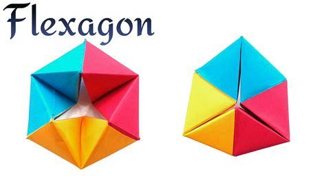 easy origami toys infinite rotating tetrahedron flexagon diy modular