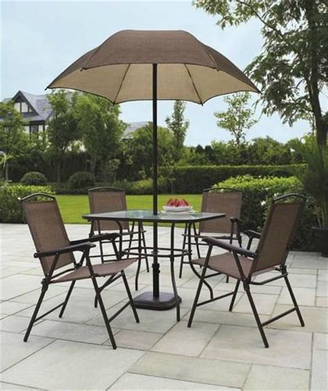 mainstays searcy 6 padded folding patio dining set lovely mainstays searcy 6 padded folding patio