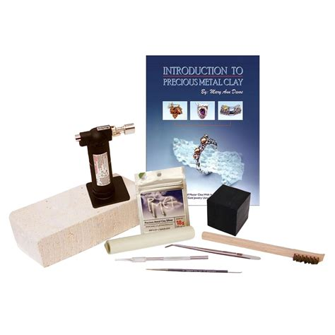 Silver Jewelry Clay Starter Kit Metal Delphi Glass