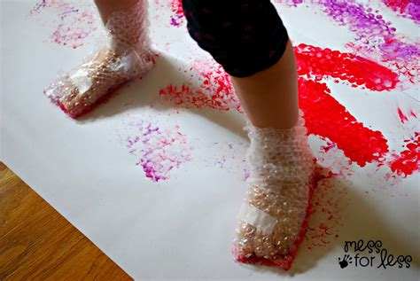 painting crafts for wrap stomp painting mess for less