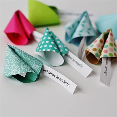 new paper crafts new year s fortune cookies diy
