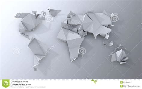 origami world origami continents scrapbooking stock photos image