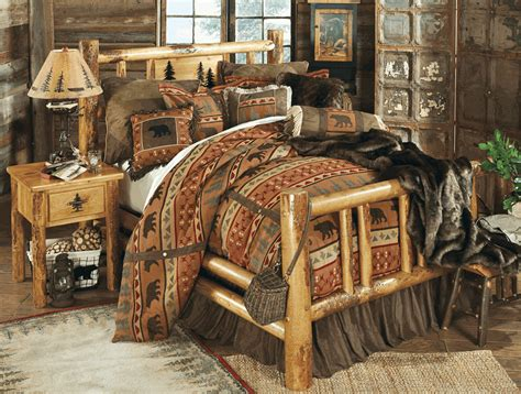 rocky mountain log bedroom collection