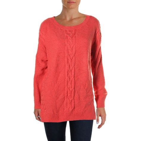 womens cable knit sweaters hilfiger 2642 womens cable knit crew neck pullover