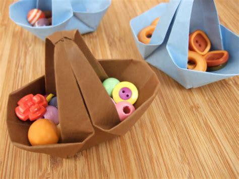 origami paper basket laboratorio origami shou bo origami per pasqua