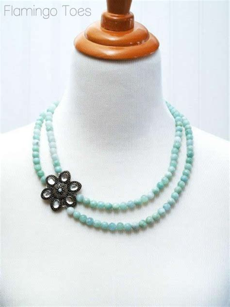 how to make beaded necklaces rhinestone brooch and bead necklace tutorial