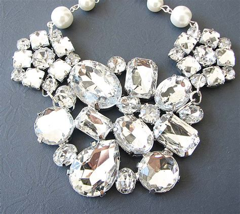 how to make rhinestone jewelry bridal jewelry wedding rhinestone necklace bridal wedding