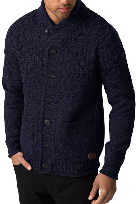 mens knitted cardigan threadbare mens knitted cardigan lille button up chunky