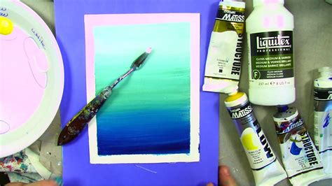 how to blend acrylic paint on canvas how to paint a line with acrylics using artist